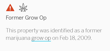 Former Grow Op Alert Screenshot