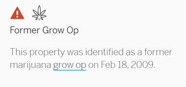 Former Grow Op Alert Screenshot