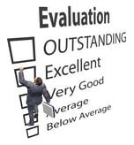 Man climbing evaluation box