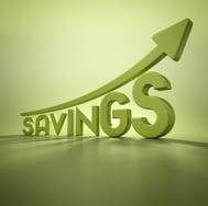 Savings arrow