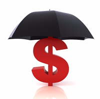 Dollar sign umbrella