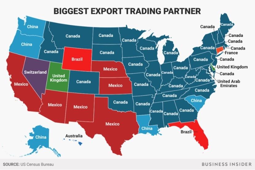 U.S. States Primary Export Market
