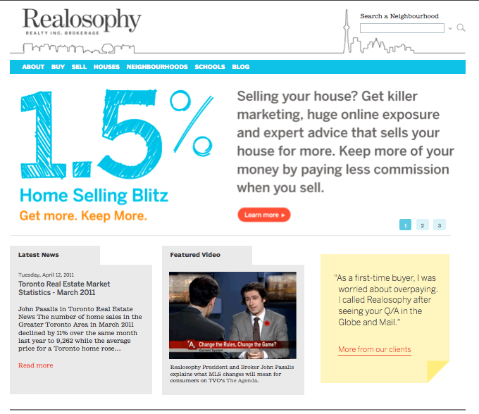Realosophy website rebrand pic