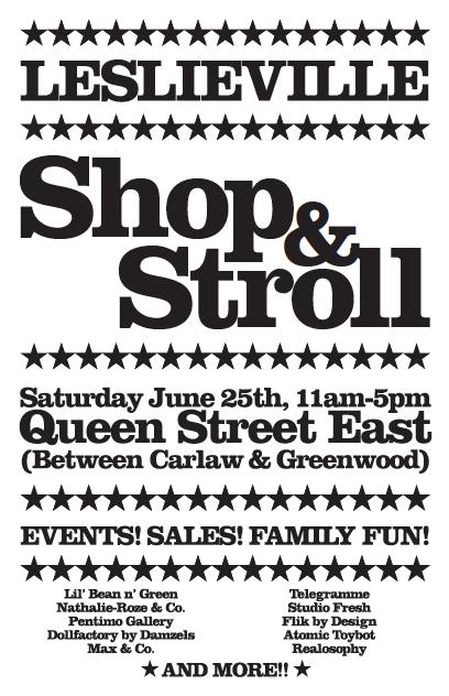 Leslieville Shop & Stroll-June 25th