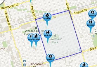 Dovercourt Park map